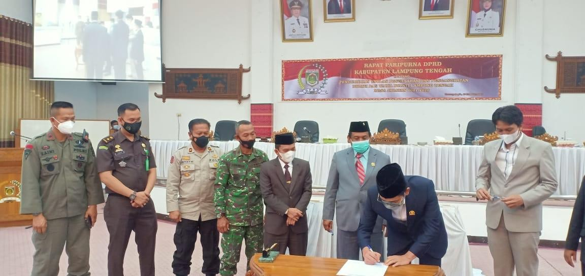 DPRD Lamteng Gelar Paripurna Pengangkatan Bupati dan Wakil Bupati Terpilih Lamteng
