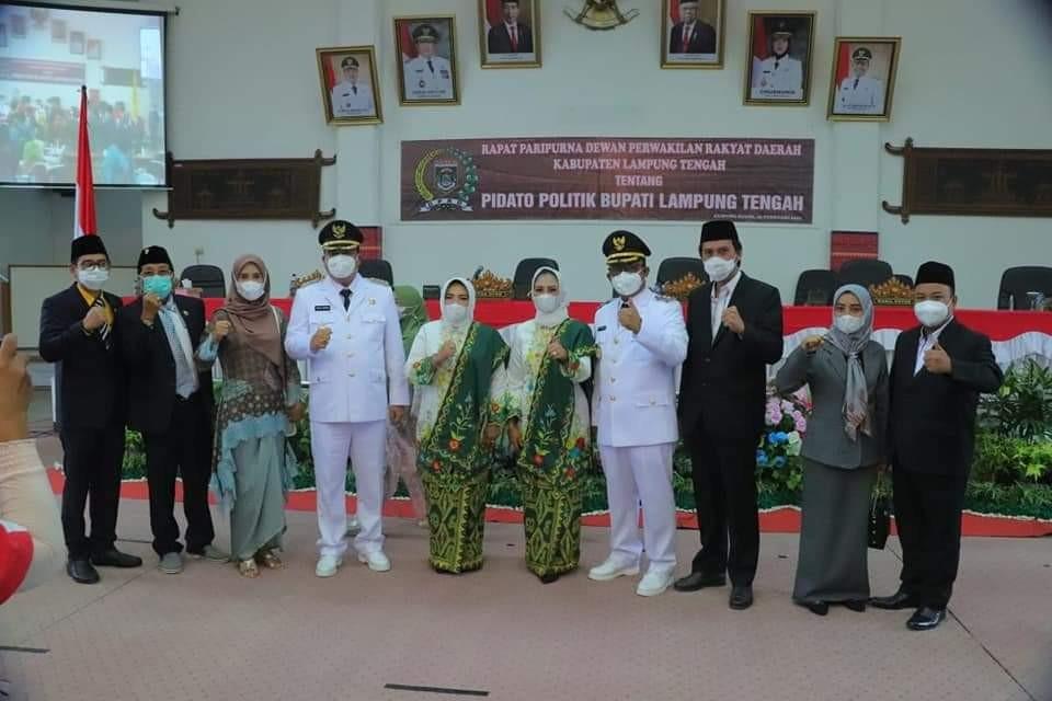 Bupati Musa Ahmad Sampaikan Pidato Politik Bupati Lampung Tengah