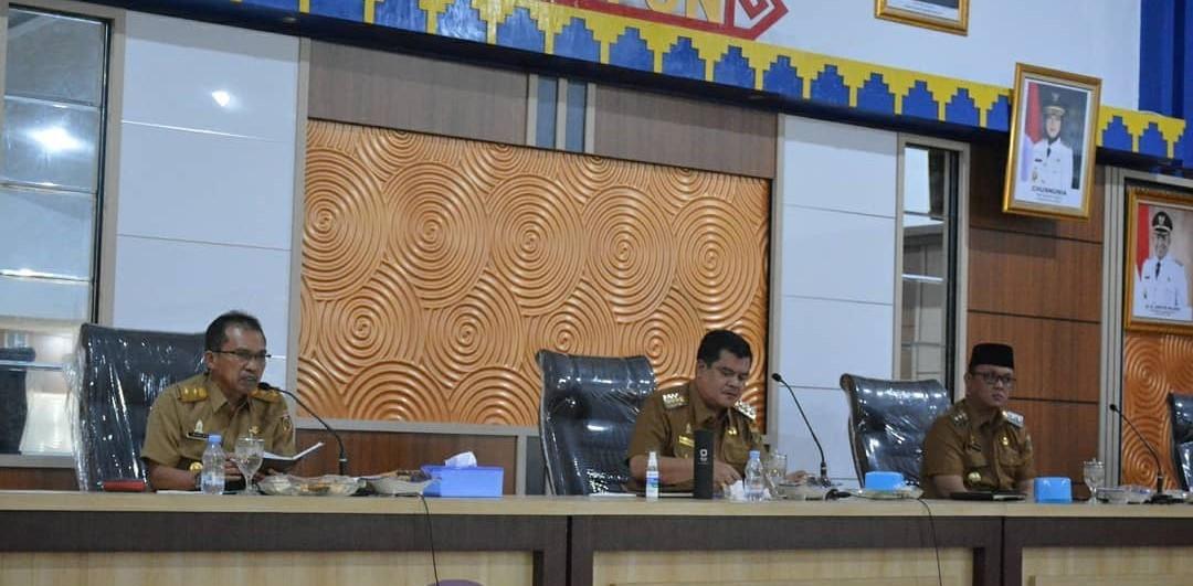 Bupati Berserta Wabup Gelar Rapat Perdana Bersama Jajaran Hingga Tingkat Camat