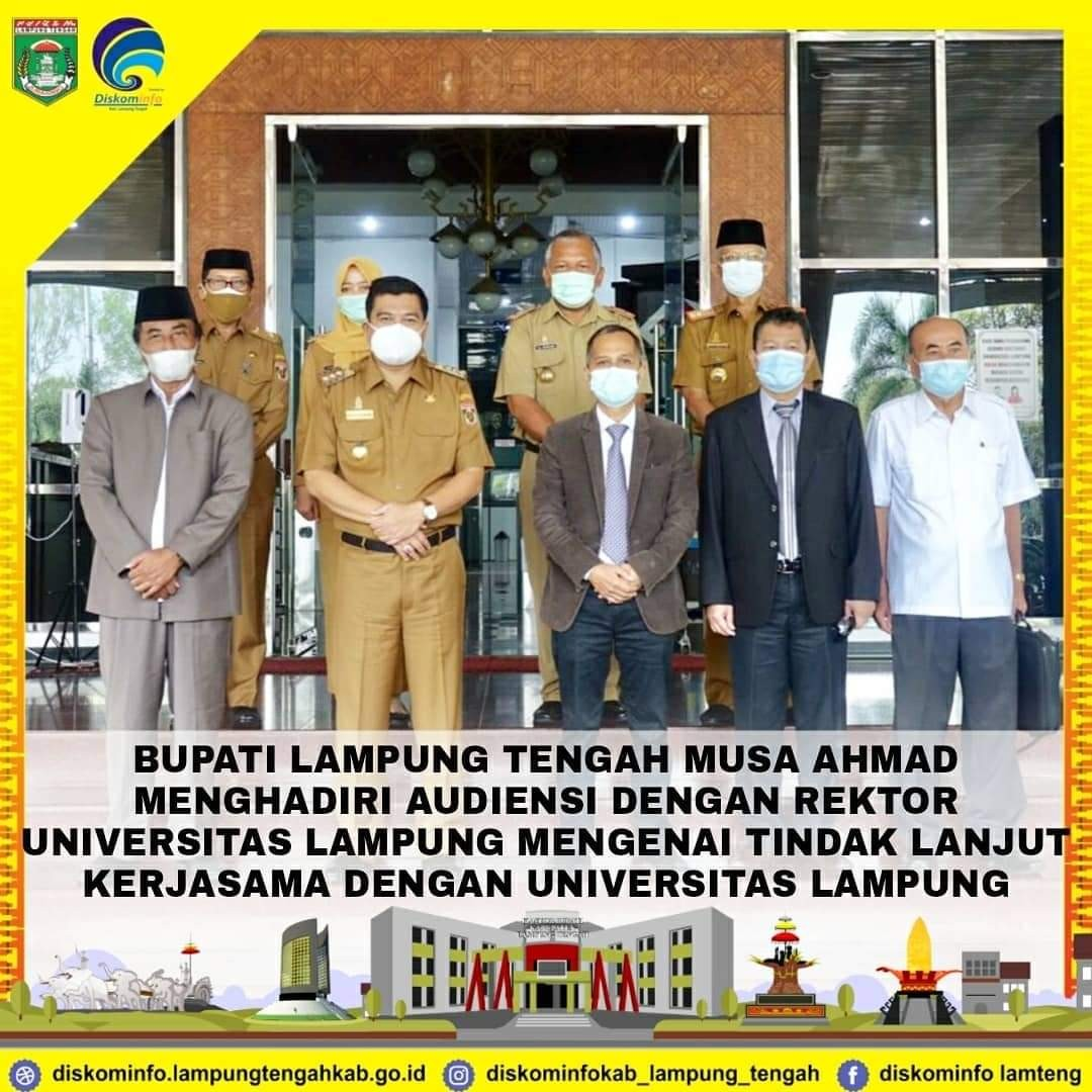 Berkomitmen Tingkatkan Pendidikan, Bupati Lampung Tengah Audensi Dengan Rektor Unila