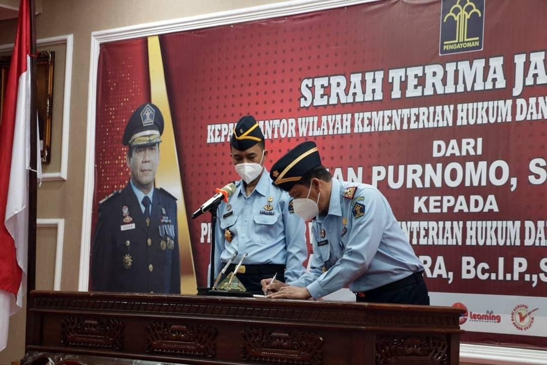 Serah Terima Jabatan Kakanwil Kemenkumham Lampung