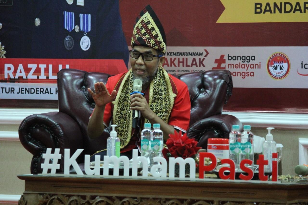 Safari Ke-27, Irjen Kemenkumham RI Berikan Penguatan Mitra Kerja di Jajaran Kanwil Lampung