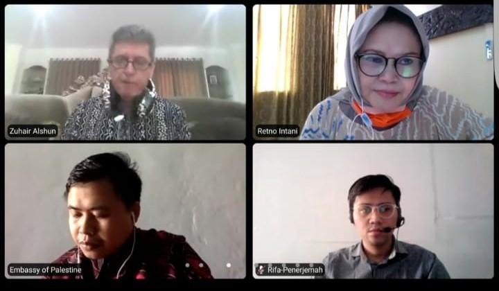 Duta Besar Palestina Zuhair Al-Shun Bincang- Bincang  dengan Pengusaha Pers Siber Indonesia