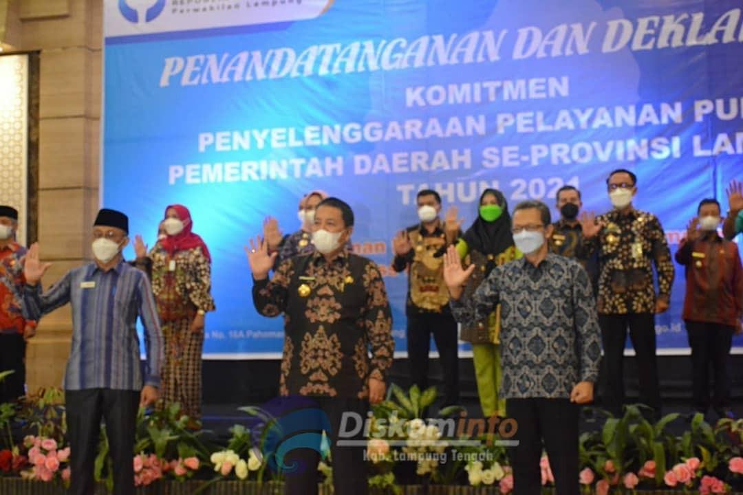 Kepala Daerah se- Provinsi Lampung Gelar Acara Ini Bersama KPK dan Ombudsman